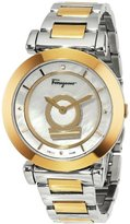 Salvatore Ferragamo Women's FQ4050013 Minutteo Gold Ion-Plated Stainless Steel Mother-Of-Pearl Dial Diamond Watch
