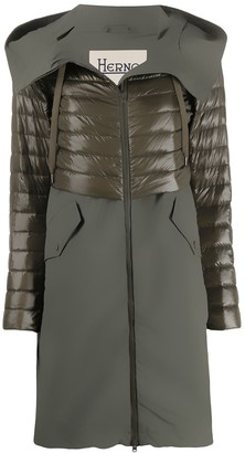 Herno Quilted Hooded Mid-Length Coat