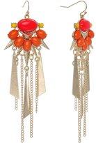 Body Candy Yellow Sunburst Chandelier Earrings