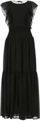 MICHAEL Michael Kors Ruffle Trim Maxi Dress