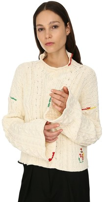 J.W.Anderson Cropped Cotton Knit Sweater