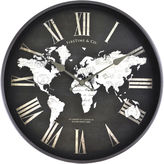Asstd National Brand FirsTime World Map Wall Clock