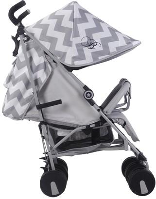 My Babiie Billie Faiers MB22 Grey Chevron Twin Strolle