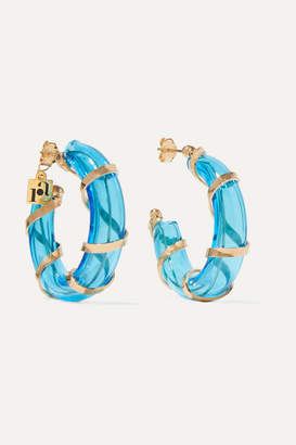 Rosantica Bolle Glass And Gold-tone Hoop Earrings
