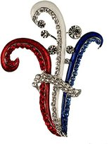 Stars & Stripes Products Patriotic Art Deco Pin