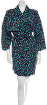 Lanvin Silk Leopard Print Coat