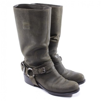 Christian Dior \N Green Leather Boots