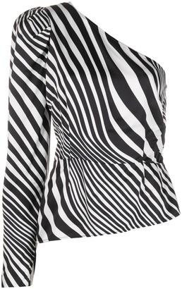 De La Vali Illusion one-shoulder blouse