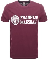 Franklin & Marshall Franklin Marshall Logo T Shirt Burgundy