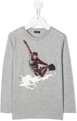 Il Gufo snowboard print T-shirt