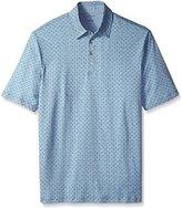 Van Heusen Men's Big and Tall Short Sleeve Dot Print Polo