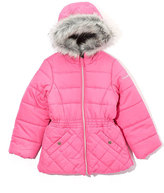 Hawke & Co Pink Quilted-Accent Puffer Coat - Girls