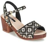 Lollipops ZOOM WOOD HEEL SANDAL Black / White