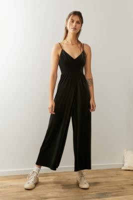 Urban Outfitters Sienna Velvet Jumpsuit - Black XS at