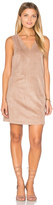 1 STATE Faux Suede Shift Dress