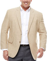 STAFFORD Stafford Linen Cotton Sand Sport Coat-Big and Tall