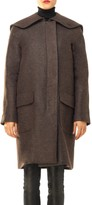 Max Studio Textured Wool Overcoat