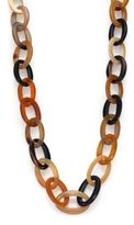 Nest Natural Horn Long Link Necklace