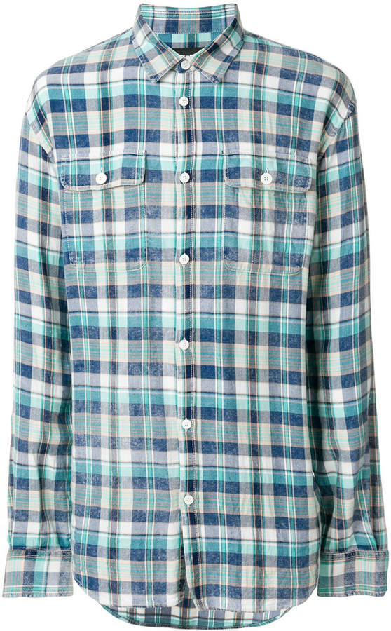 DSQUARED2 long-sleeved checked shirt