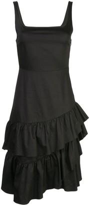 Cynthia Rowley Eva Polished Ruffle Dress