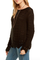 Chaser Crochet Scallop Sweater