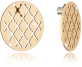 Rebecca Melrose Yellow Gold Over Bronze Stud Earring