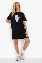 Thumbnail for your product : boohoo Care Bear Licenced T Shirt Dress
