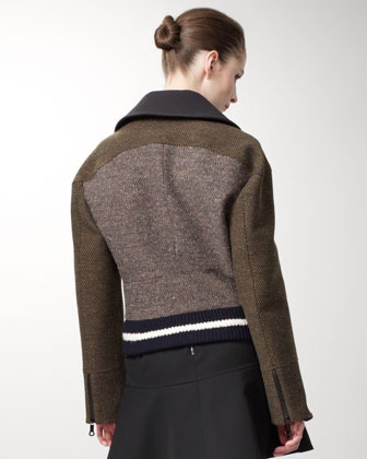 Stella McCartney Tweed Varsity Jacket