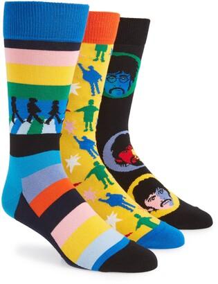 Happy Socks The Beatles Encore Edition 3-Pack Sock Gift Set