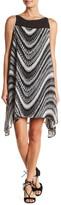 Robbie Bee Sleeveless Print Sharkbite Hem Dress
