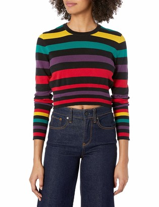 BCBGeneration Women's Cropped Striped Sweater