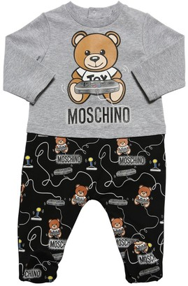 Moschino Toy Print Cotton Interlock Romper