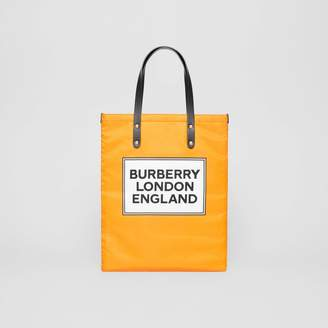 Burberry Logo Print Nylon Tote Bag