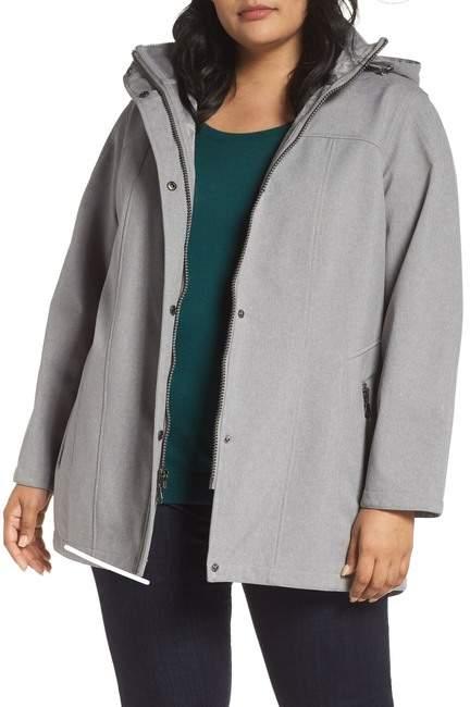 Hooded Soft Shell Jacket (Plus Size)