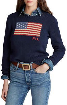 Polo Ralph Lauren Flag Cotton Crewneck Sweater