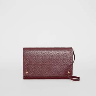 Burberry Monogram Leather Bag with Detachable Strap