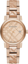 Burberry Women's Swiss Rose Gold Ion-Plated Stainless Steel Bracelet Watch 34mm BU9146