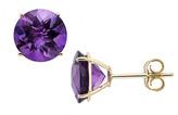Ice.com 3 1/8 Carat Amethyst 14K Yellow Gold Stud Earrings