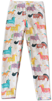 Urban Smalls Cream Unicorn Toasties Leggings - Infant Toddler & Girls