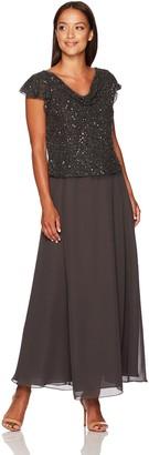 J Kara Women's Petite Short Flutter Sleeve Dress