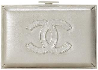 Chanel Iridescent Silver Fabric Evening Wild Minaudiere