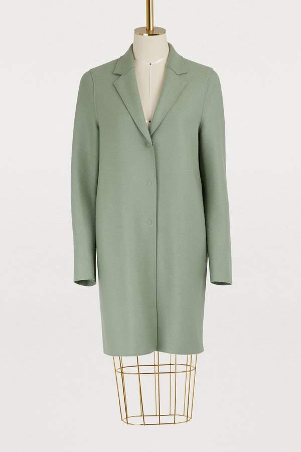 Harris Wharf London Wool Cocoon coat