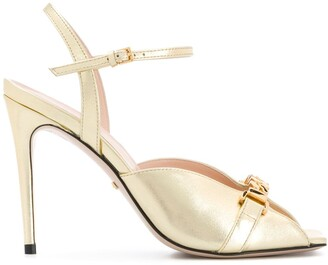 Gucci Chain-Detail Square-Toe Sandals