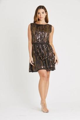 Skirt & Stiletto Copper Beaded Dress
