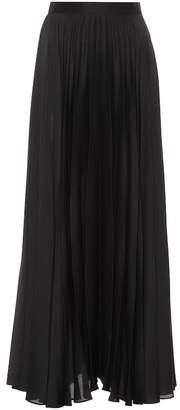 The Row Nailen pleated satin skirt