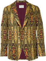 Etro ethnic print blazer - men - Silk/Linen/Flax/Polyamide/Acetate - 50