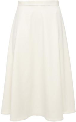 Iris & Ink Eleni Flared Brushed-twill Midi Skirt