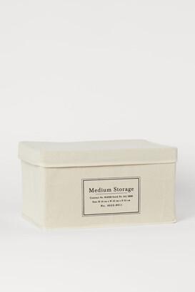 H&M Canvas Storage Box - White