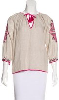 Ulla Johnson Embellished Long Sleeve Top