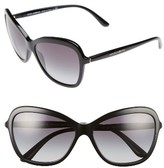 Dolce & Gabbana Women's 59Mm Gradient Butterfly Sunglasses - Black